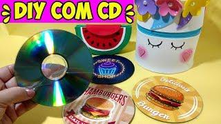 DIY com CDs velhos -  Ideias Incríveis para fazer em casa - Segredos de Aline