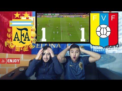 WEAK ARGENTINA DROPS POINTS AGAINST VENEZUELA 1-1 - Highlights LIVE REACTION