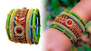 Make an awesome new Bangle Set | OLD BANGLE REUSE | New look | Silk thread bangle