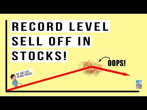 Stock Market Drops 500 Points as Equities Hit Record Level SELL OFF!