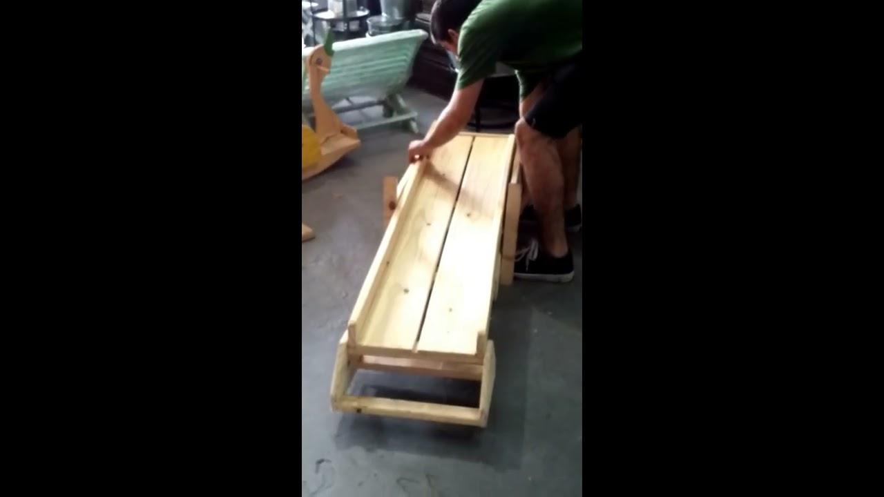 Como armar un tobogan plegable de madera youtube for Piscinas para armar