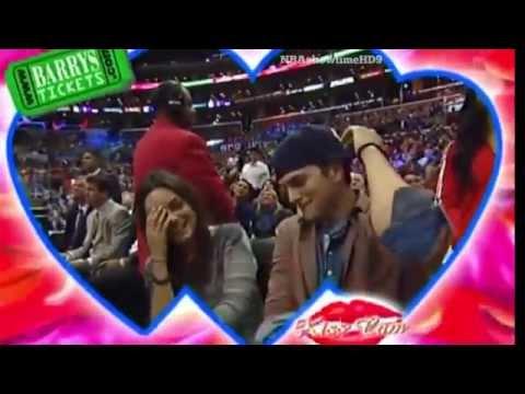 Mila Kunis & Ashton Kutcher's Kiss Cam Moment