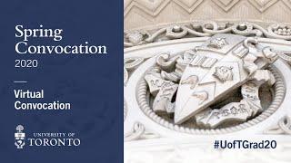 Spring Convocation #UofTGrad20