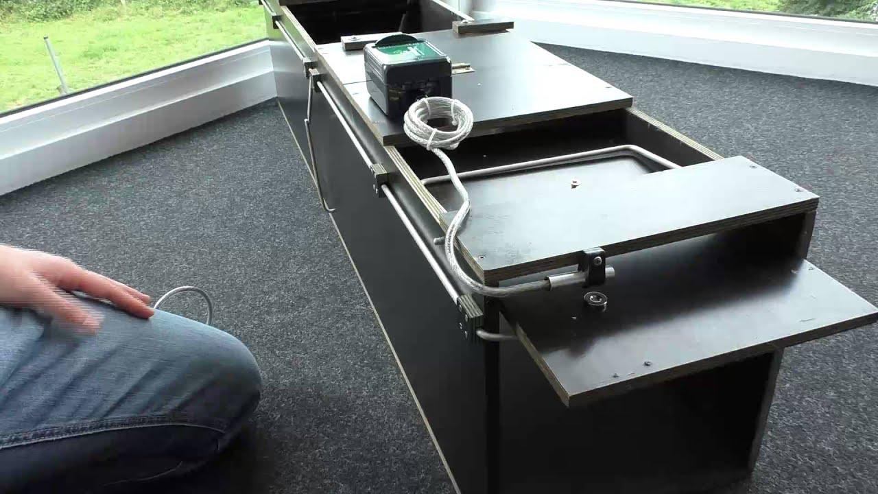 installation des fallenmelders an einer kastenfalle und testen ob die installation in ordnung. Black Bedroom Furniture Sets. Home Design Ideas