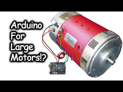how to control large dc motors and servos with arduino