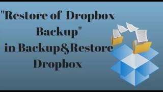 Free Dropbox Backup Restore. Backup & Restore Dropbox WP plugin