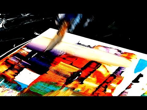 ABSTRACT PAINTING Step by Step  tutorial simple and easy to follow for beginners
