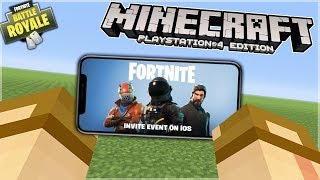 FORTNITE DAL TELEFONO SU MINECRAFT!😱 MINECRAFT E FORTNITE IPHONE & ANDROID ITA!