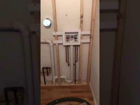 Washer & Dryer Plumbing FINISHED - Residential Plumbing - Rescue Plumbing