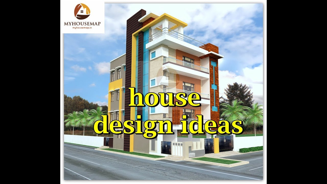 house design idea   g+3   floor plan   elevation - YouTube