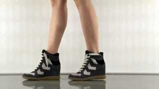 Sneaker wedge-and you'll scream for more (Black Grey Beige. Shoes by Sam Edelman)
