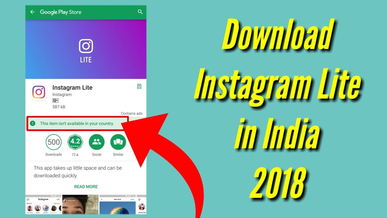 How to Download Instagram Lite app 2018 | PhoneMeter