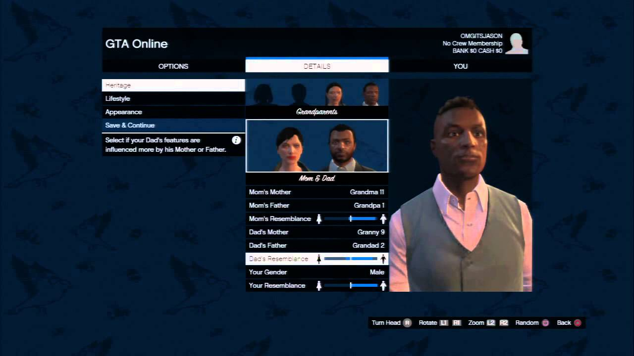 Grand Theft Auto Online - Create Character Customize -7234