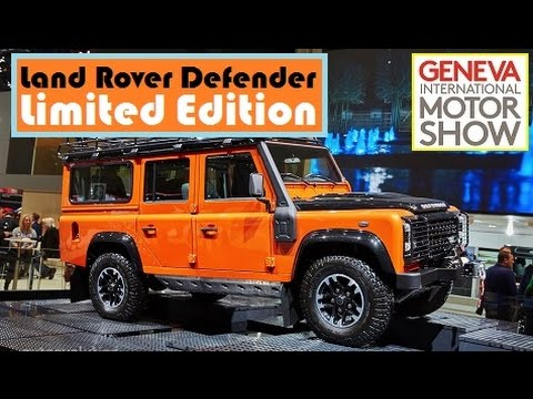 Land Rover Defender Limited Edition, live photos at 2015 Geneva Motor Show
