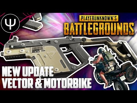 PLAYERUNKNOWN'S BATTLEGROUNDS — NEW Update, Vector SMG, Motorbike, 2X Scope and Optimizations!