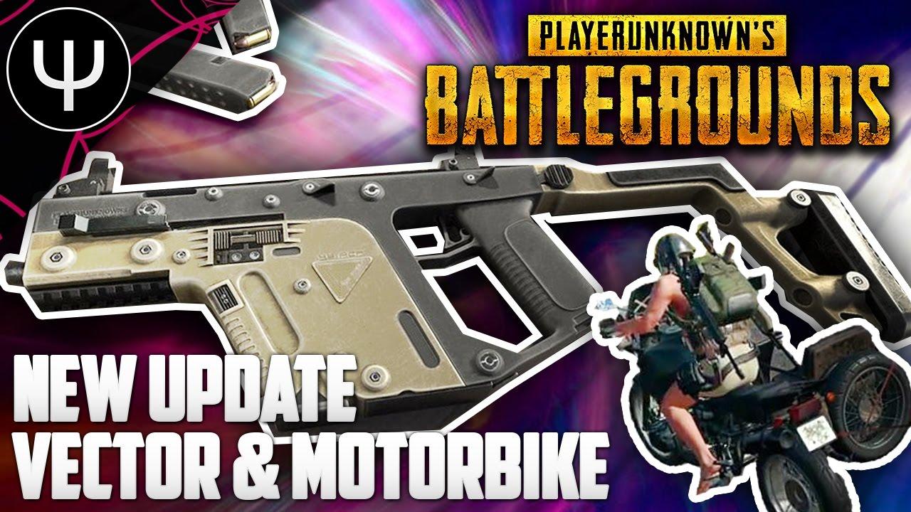 Playerunknown S Battlegrounds New Update Vector Smg Motorbike