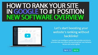 How to Use Userion SEO service to Rank Your Site on Google and Videos on YouTube (SEO software)