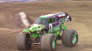 Girl Roselyn Racing This Burning Monster Truck & She Finish Race & Beat Grave Digger Incredible Film