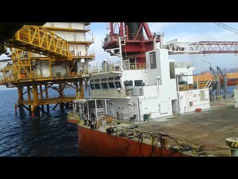S.P. Jack up barge Shifting operation (Capt.Vakili)