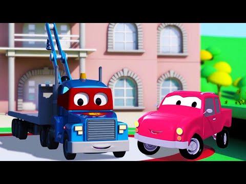Carl el Super Camión y la Camioneta en Auto City | Dibujos animados para niños