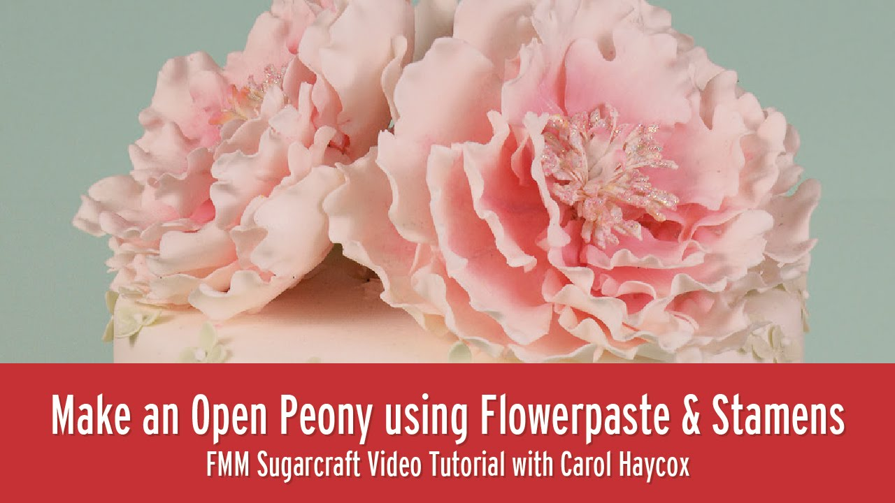 How to make gum paste peony flowers youtube.