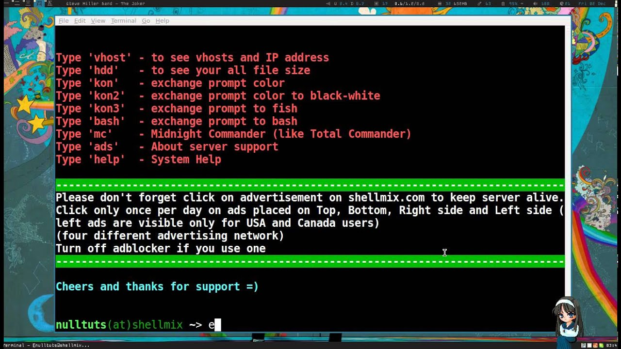 How to Create a Free SSH Account on Shellmix to Use as a Webhost