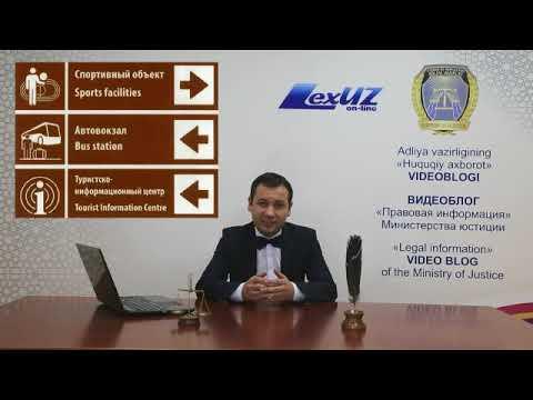 """Kirish turizmini rivojlantirish haqida (""""Huquqiy axborot"""" videoblogi 9-son)"""