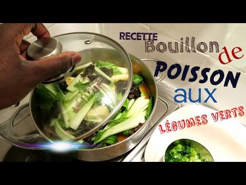 Bouillon de poisson aux légumes verts / RECETTE / Bouillon ya malangwa na ndunda