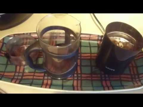 Krups coffee grinding coffee pouring demo