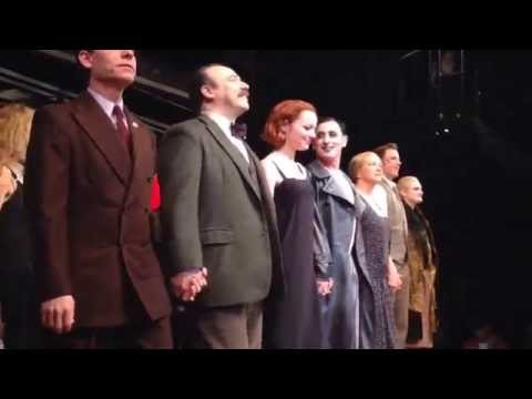 "Emma Stone: First Curtain Call from the Broadway musical ""Cabaret"" on November 11, 2014"