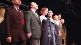 """Emma Stone: First Curtain Call from the Broadway musical """"Cabaret"""" on November 11, 2014"""