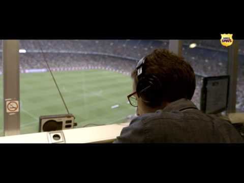 Teaser Behind the scenes: the new voice of Camp Nou