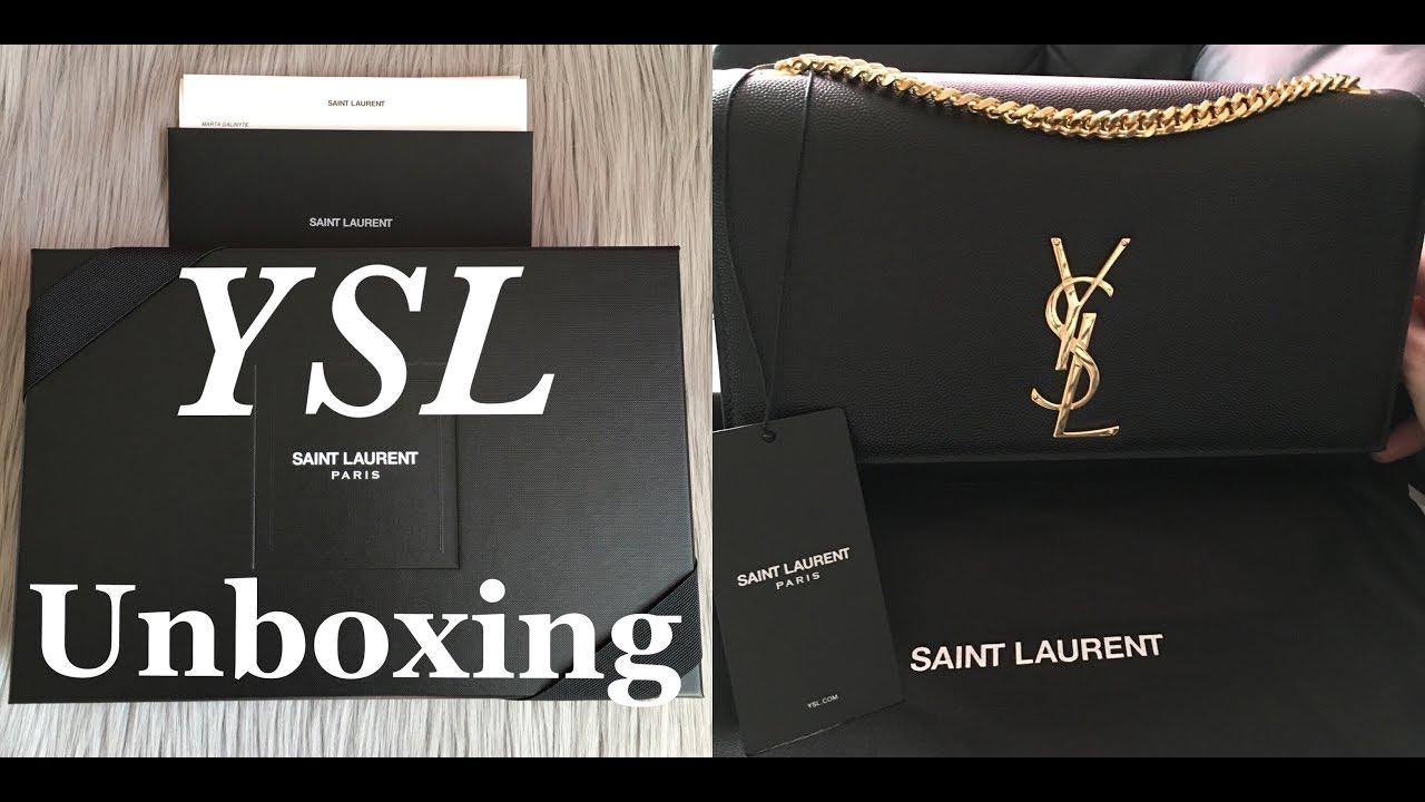 9dac8cf9b0 Unboxing YSL Classic medium Kate satchel bag