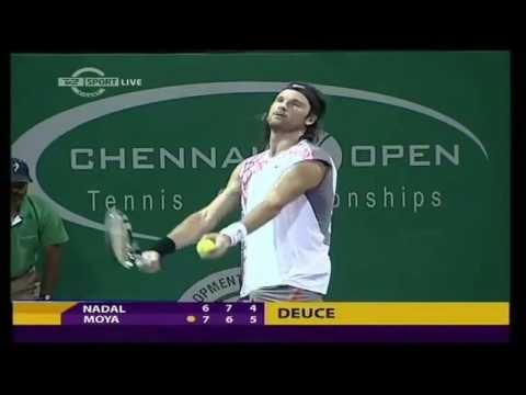 Chennai 2008 SF Moyà vs Nadal (Highlights)