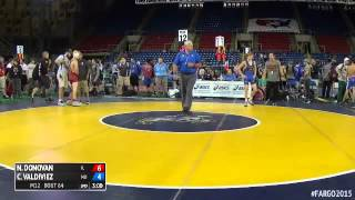 120 Champ. Round 1 - Cameron Valdiviez (Missouri) vs. Nicholas Donovan (Illinois)