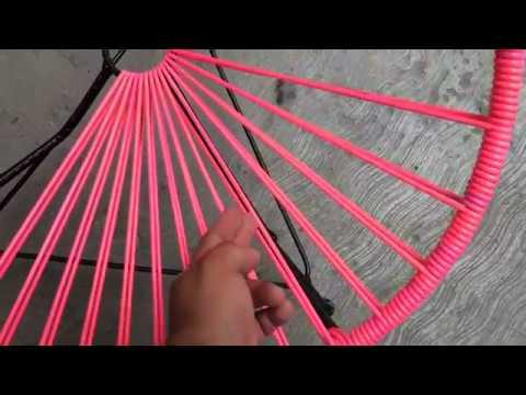 Como TEJER una silla acapulco ACAPULCO ARMCHAIR  YouTube