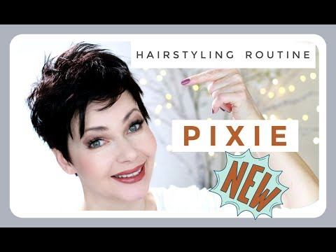 SO Style Ich Meinen Pixie Haircut - 2019 Hairstyling Routine - KatisWeltTV - M. Asam