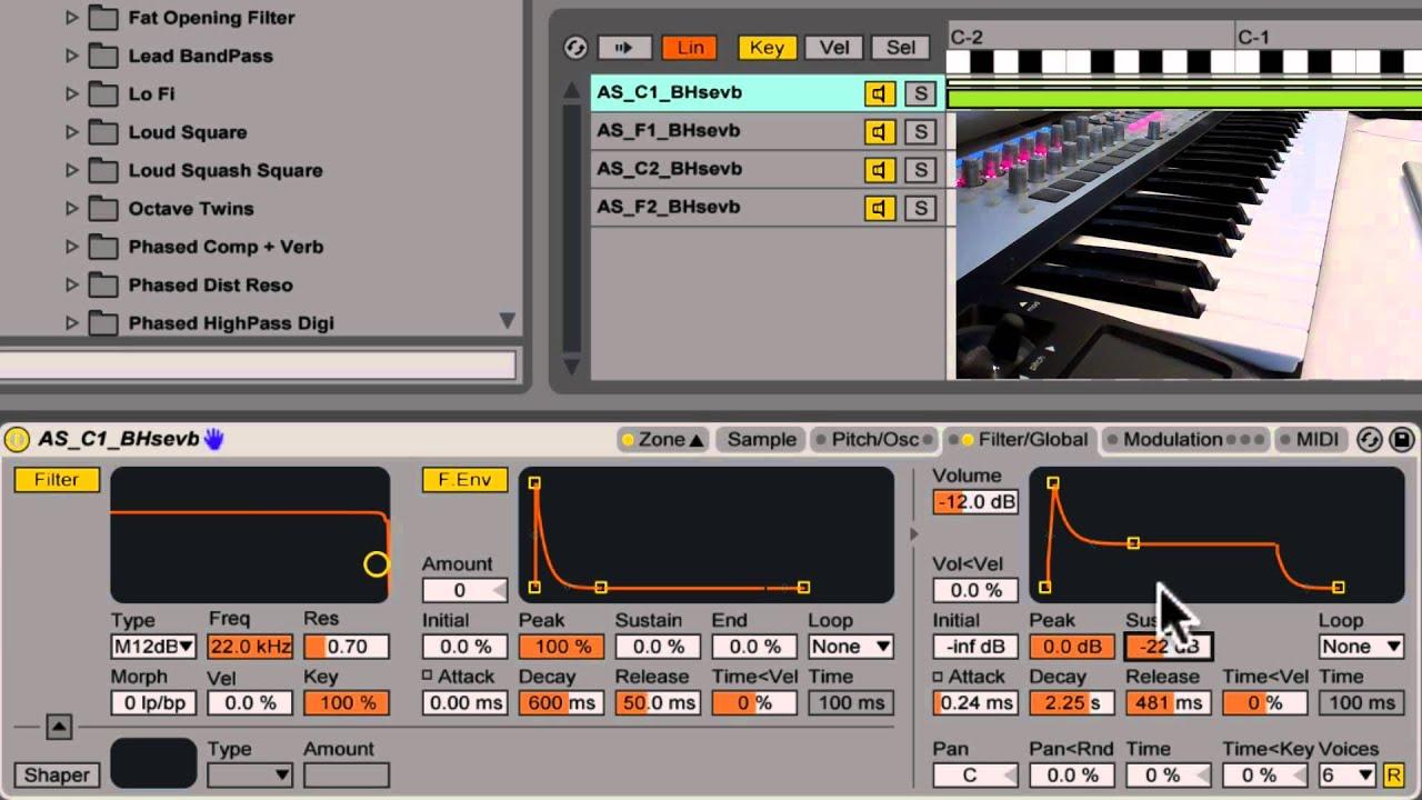 Creating a Multi Sample Instrument in Abletons Sampler - YouTube