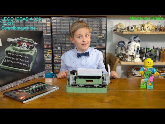 LEGO® Ideas 21327, Typewriter, Schreibmaschine, Review, Meister der Steine