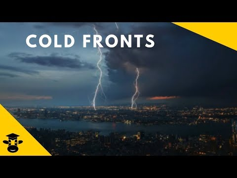 Cold fronts and severe weather