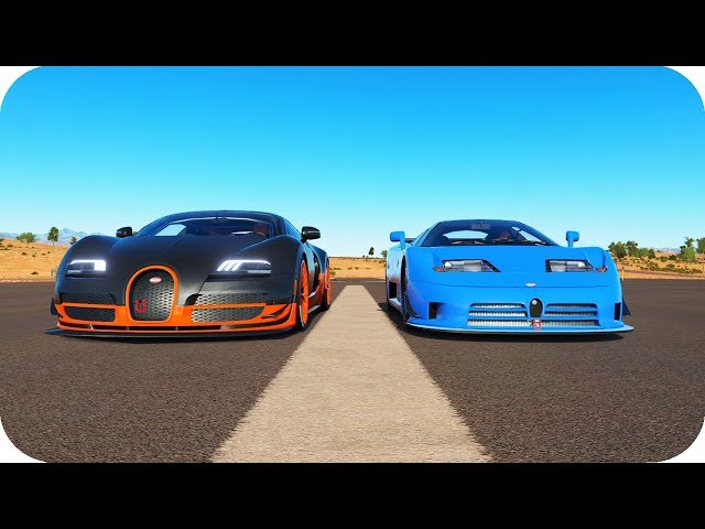 Bugatti Veyron Ss Vs Eb110 Motor W16 8 0 Quad Turbo Fh3 You