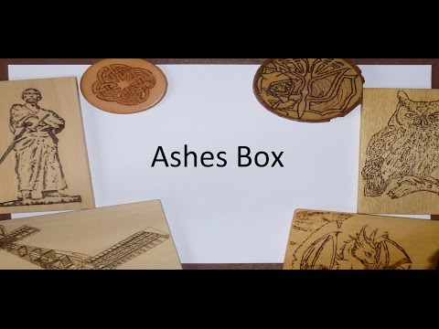 Pyrography Project - Ashes box