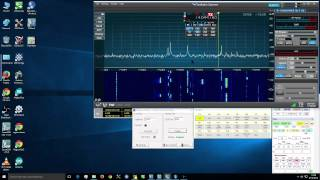 Flex Radio version 1.5 SSDR wideband noise blanker demonstration CW