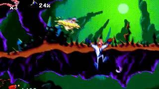 [Sega Genesis] Earthworm Jim [Gameplay 1] [ESPAÑOL]