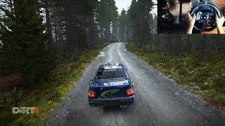 Subaru Impreza WRC 2001 - Dirt 4 (Logitech g29 + shifter) gameplay