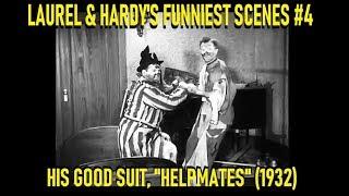 """Laurel & Hardy's Funniest Scenes #4: His Good Suit, """"Helpmates"""" (1932)"""