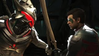 Injustice 2 : Black Manta Vs Robin - All Intro/Outros, Clash Dialogues, Super Moves