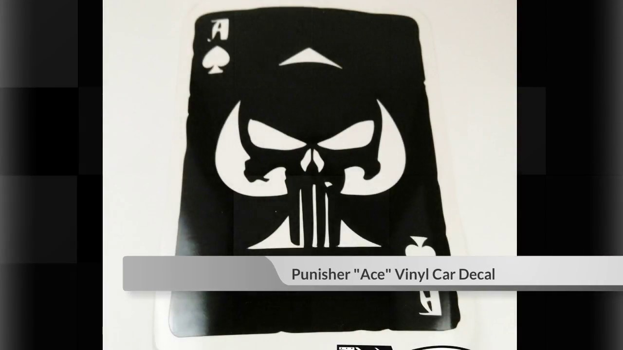 Punisher Car Decal Punisher Skull Military Decals Youtube