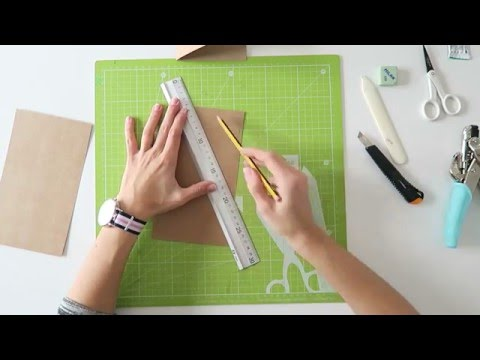 Cómo hacer una carpeta kraft para Traveler's Notebook - TUTORIAL DIY
