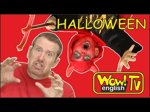Halloween Trick or Treat Steve and Maggie Stories for Kids | Speaking Wow English TV